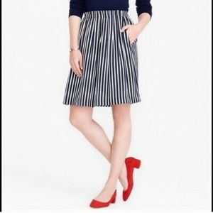J crew - stripe midi skirt